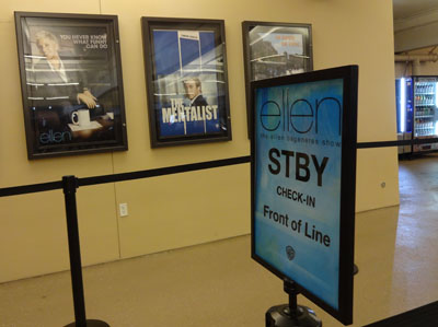 Sign for the queue for people with Standby Tickets for The Ellen DeGeneres Show