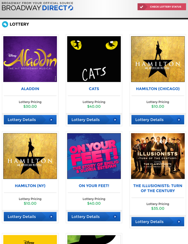 How NOT to win the Broadway ticket lotteries - Tips and